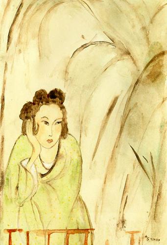 Femme sous un bananier. Andreja SoleilAusstellung PIAs Kimono