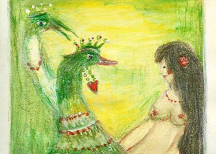 Leda und der Schwan. Andreja Soleil