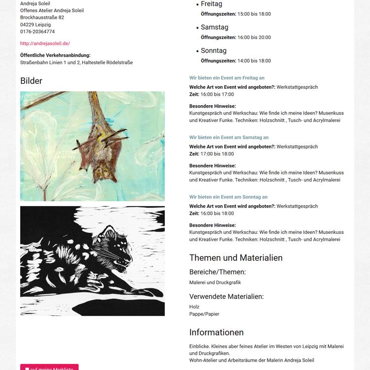 Andreja Soleil leipzig.kunsthandwerkstage Info