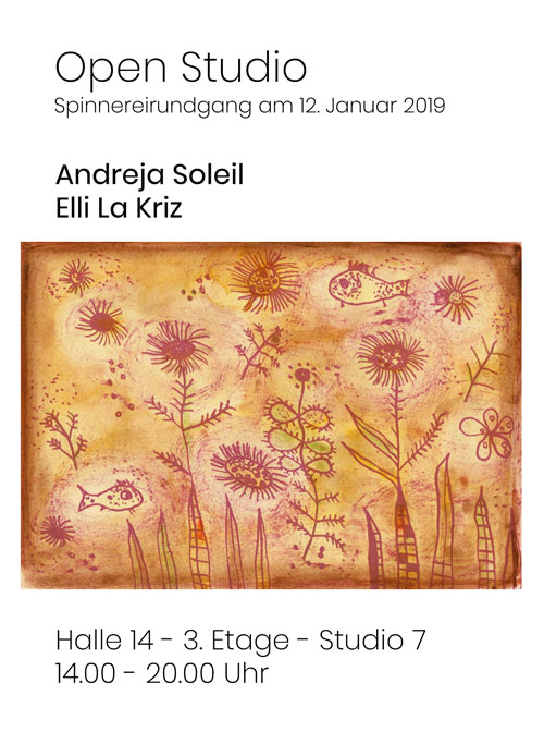 Winterrundgang Spinnerei Offenes Atelier – Open Studio Andreja Soleil