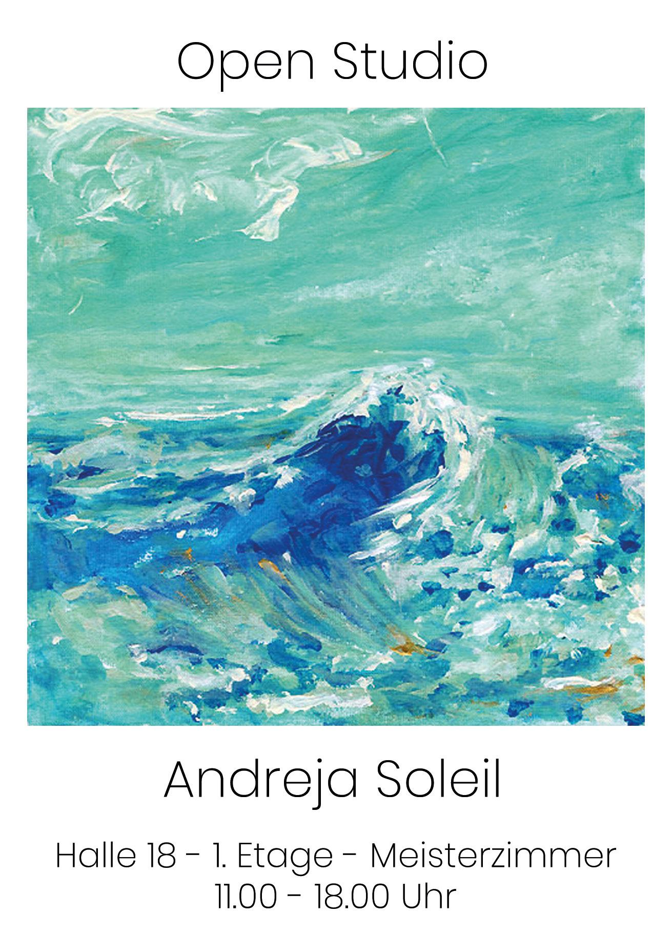 Baumwollspinnerei Frühjahrsrundgang Offenes Atelier – Open Studio Andreja Soleil